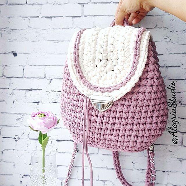 Bolsa de malha em crochet @alegriastudio | Crochet y patrones ...