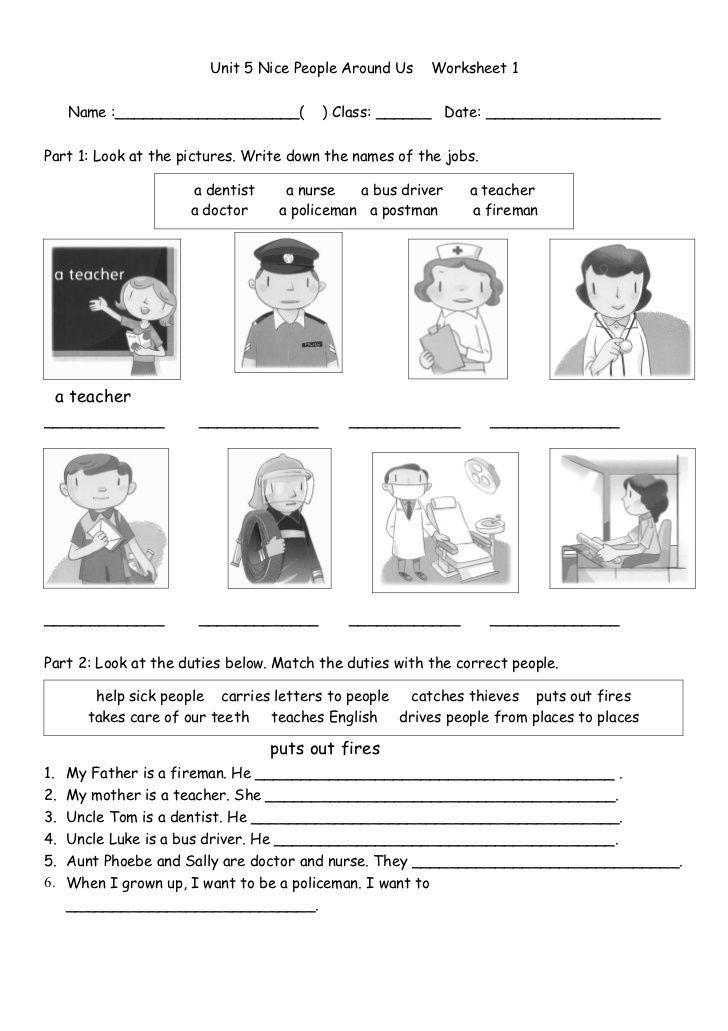 Worksheet Jobs And Duties Worksheets For Kids Fun Worksheets For Kids Family Worksheet