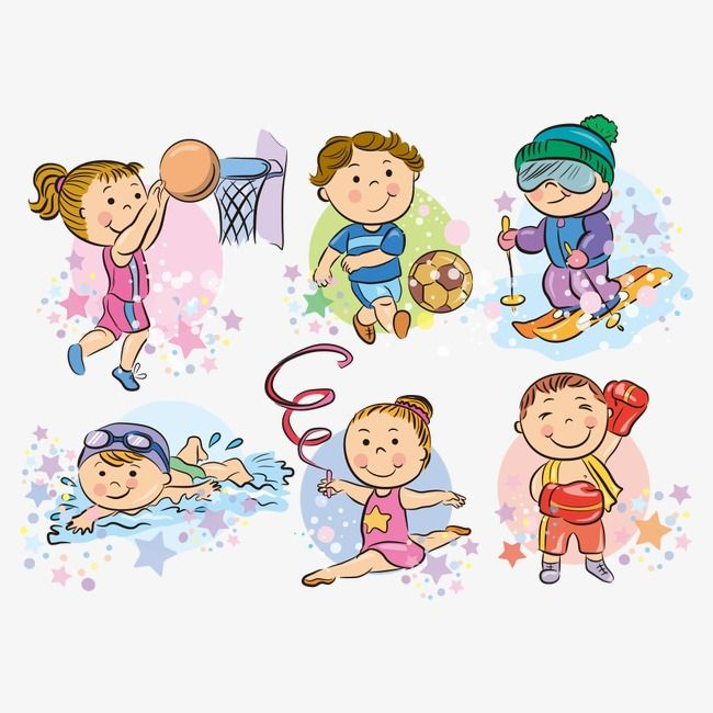 Vector Sport Kids Kids Clipart People Illustration Character Png And Vector With Transparent Background For Free Download Dibujos Para Ninos Dibujos Animados Personajes Deportes Animados