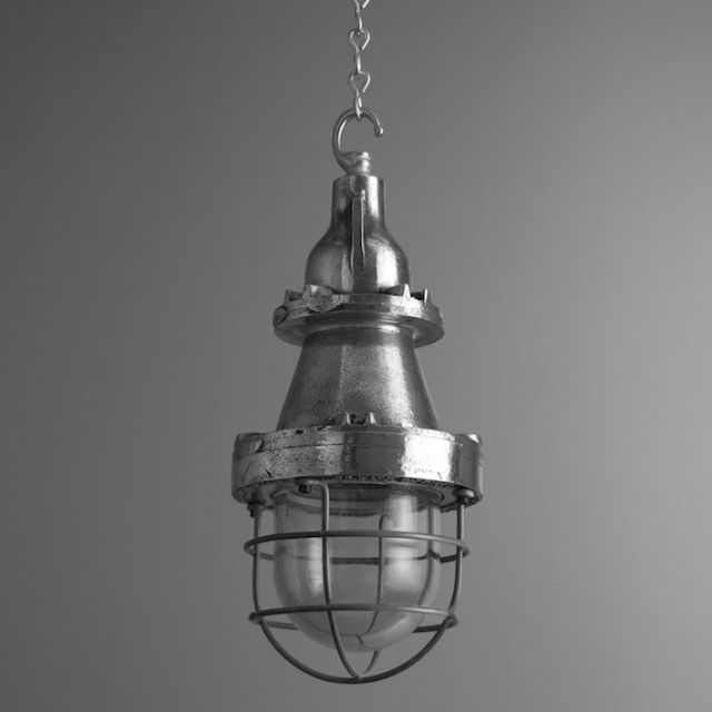 "Industrial Caged Pendants By British Manufacturer ""Heyes"