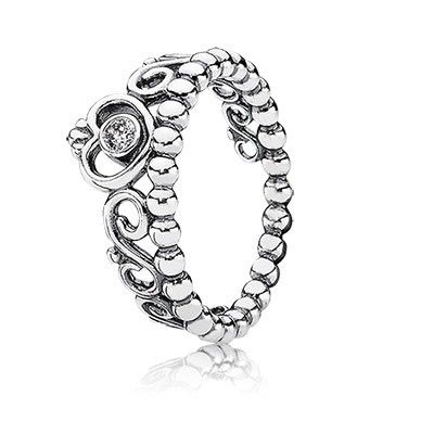 d2b76c63a ... Sale Pandora Ring My Princess with Clear CZ Stackable Cheap Prices ...
