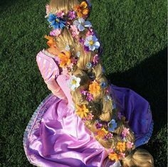 Rapunzel Braided Hair Flowers Google Search Rapunzel Braid Rapunzel Hair Tangled Cosplay