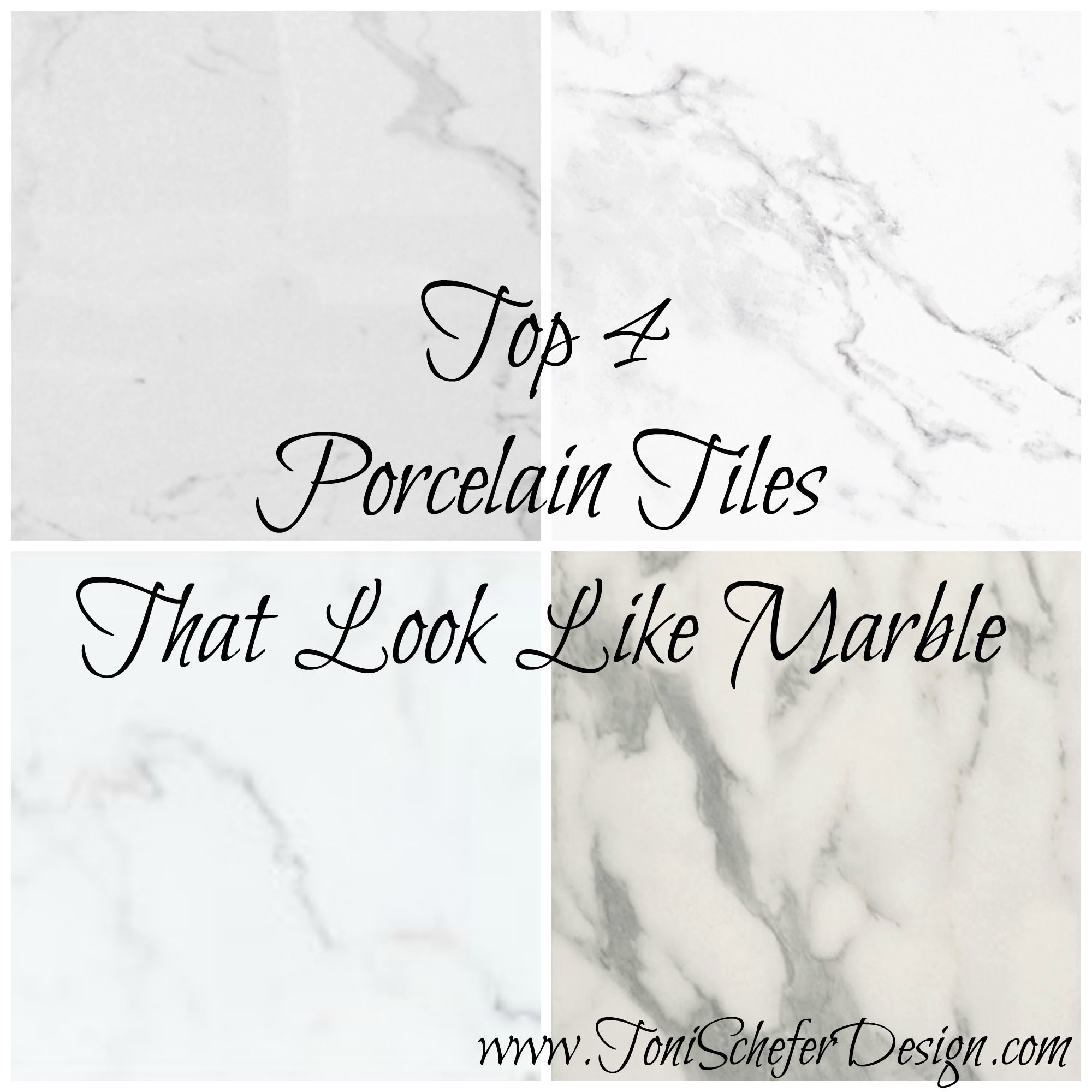 My favourite porcelain tiles that look like marble