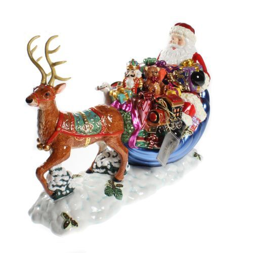 Mccoys Christmas Trees: Details About LARGE Christopher Radko Santa Ornament