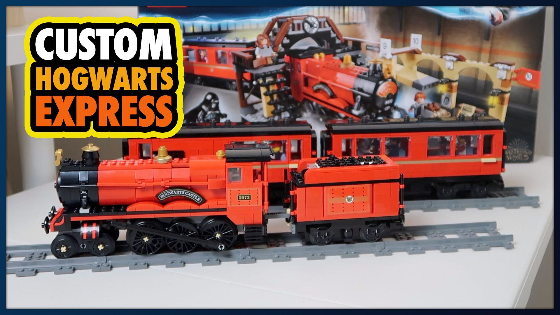 Custom Lego Hogwarts Express Train And Carriages Moc Set 75955 Lego Hogwarts Hogwarts Express Train Hogwarts Express