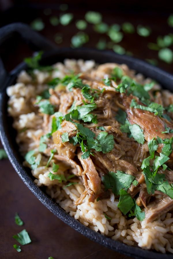 This slow cooker honey mustard pulled pork is so easy to make and the perfect weeknight supper. Great on buns, eaten plain or overtop rice.