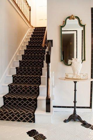 Lemondropdreams Diy Stair Runner… Diy Stairs Stair Runner | Wayfair Stair Carpet Runners | Textured Carpet | Rosalind Wheeler | Staircase Makeover | Treads Carpet | Brown Beige