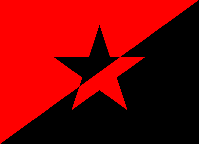 File Anarchy Flag With Star Svg Flag Anarchy Propaganda Posters