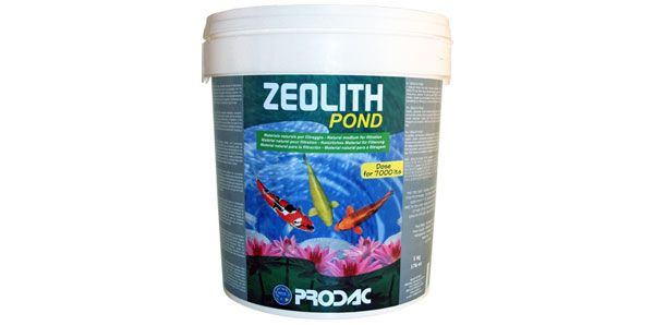 100% high quality zeolite filtering media which removes nitrites, nitrates and ammonia in pond water.