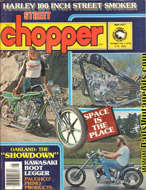 1977 May Street Chopper Motorcycle Magazine Back Issue