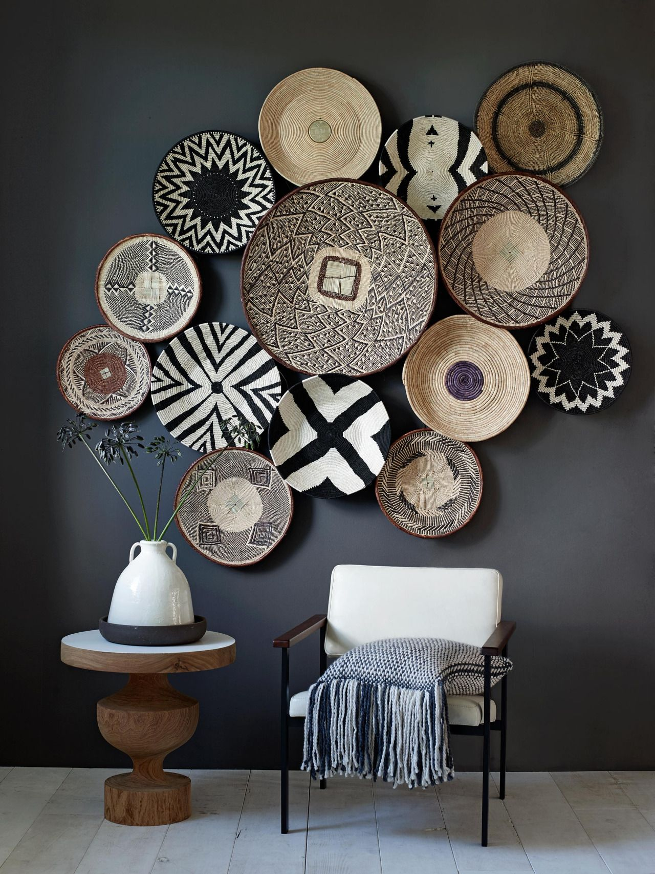 Wall Baskets Decor what to hang on the wall {besides art and photos | designers