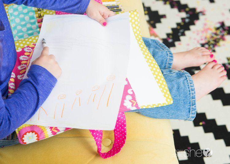 diy coloring book and crayon holder - Coloring Book And Crayon Holder