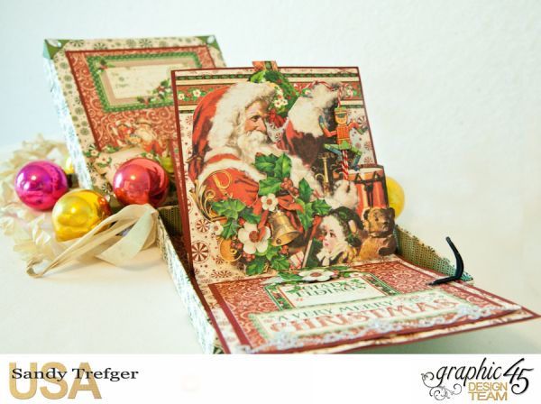 Boxed Pop Up Card, St Nicholas, Tutorial by Sandy Trefger, Product