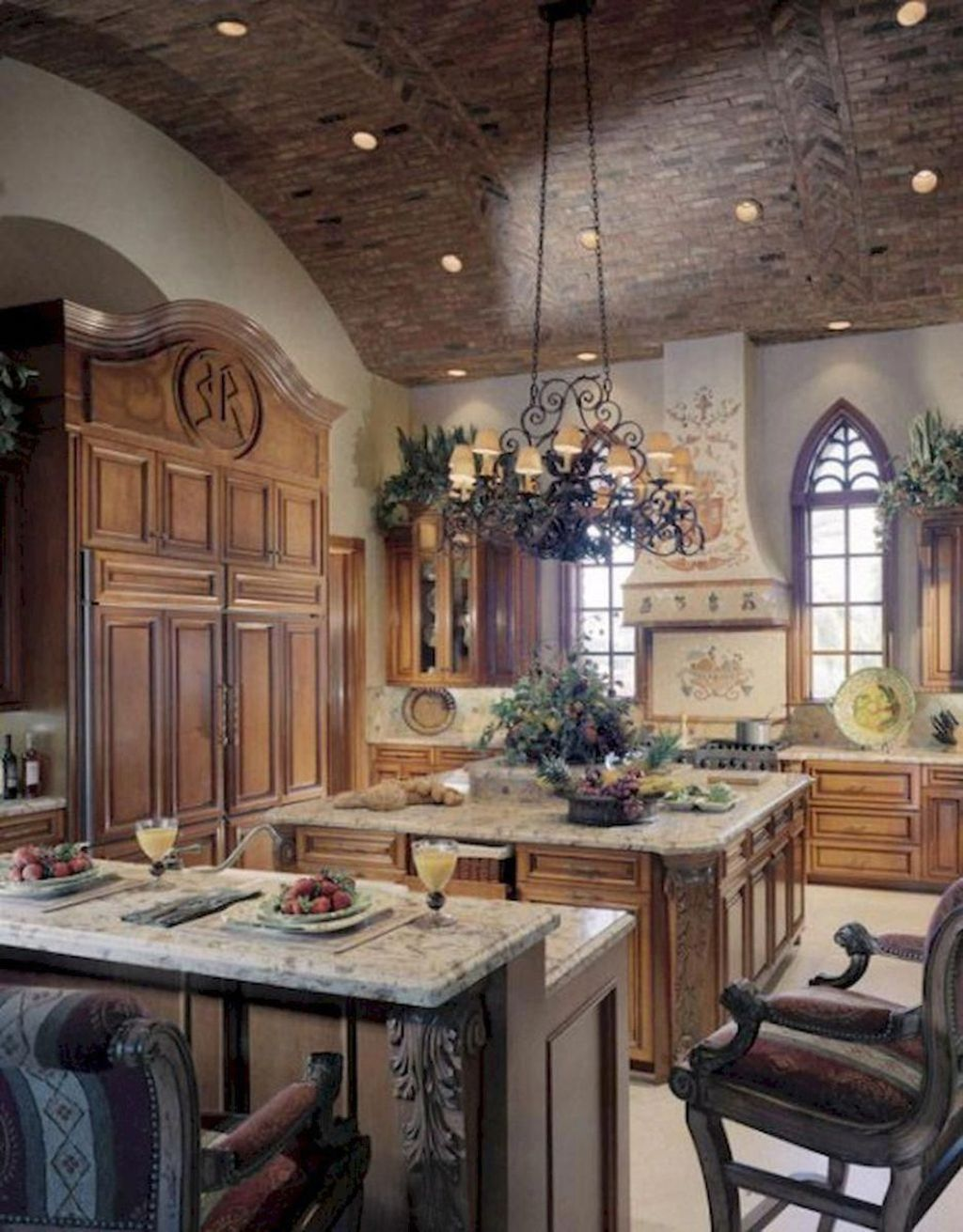 20 Luxurious Tuscan Kitchen Design For Inspiration Trenduhome In 2020 French Country Decorating Kitchen Tuscan Kitchen Design Country Kitchen Designs