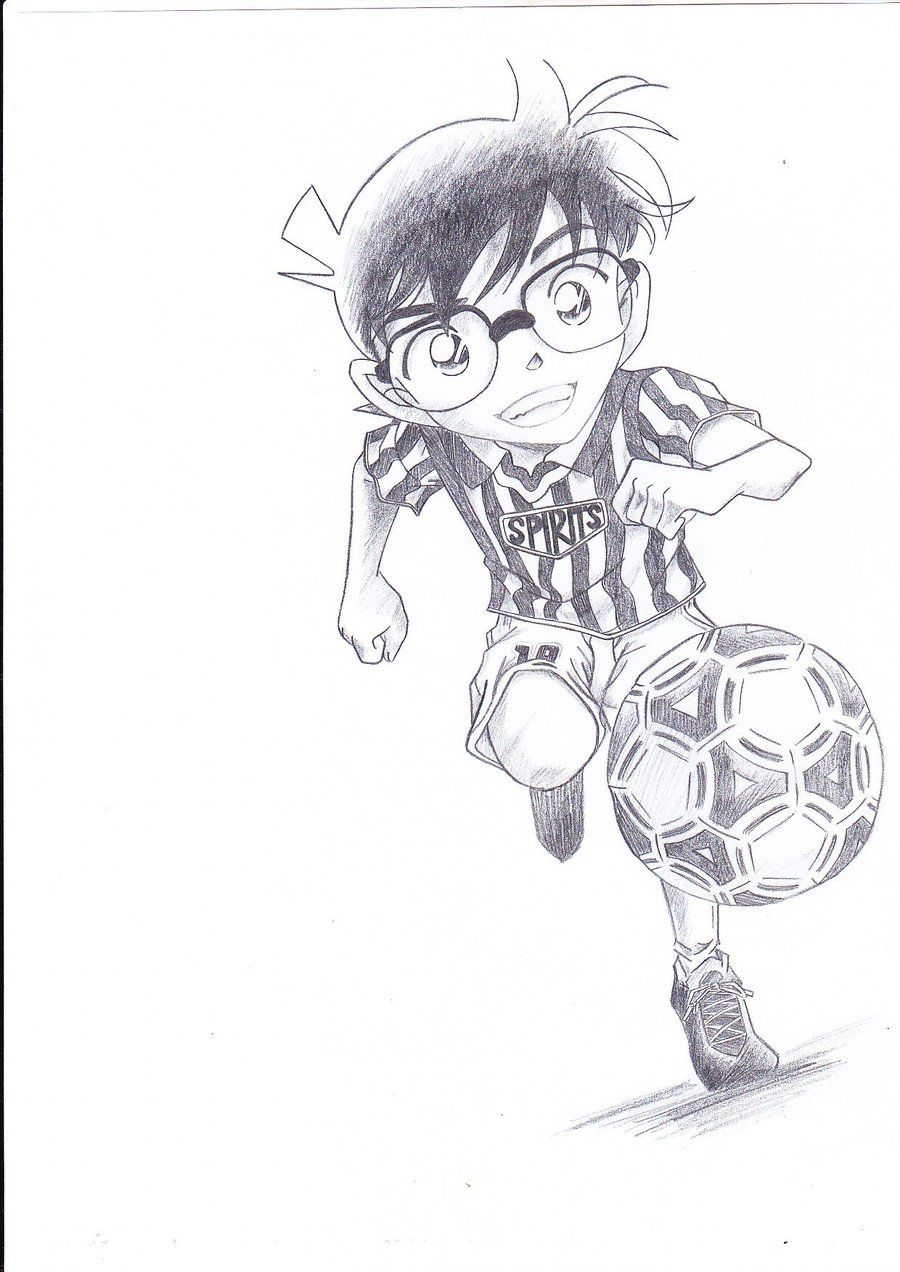 manga style soccer action pose