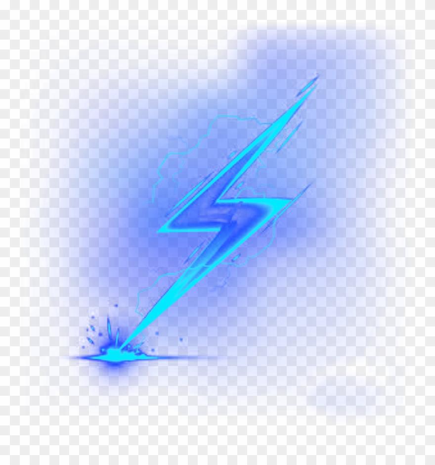 Ftestickers Clipart Lightningbolt Blue Cute Transparent Blue Clip Art Telegram Logo Transparent