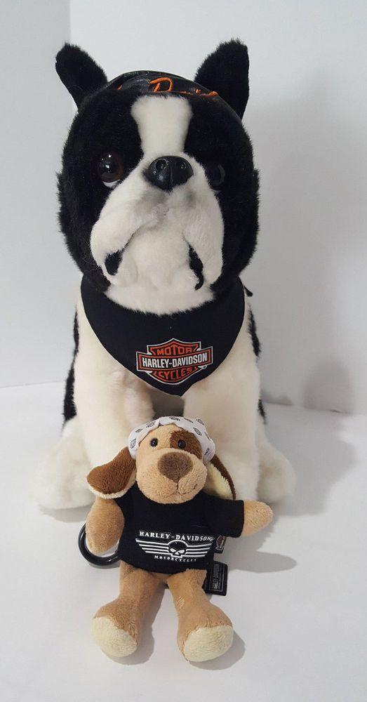 Harley Davidson Boxer Doo Rag Plush Stuffed Dog W Willie G Skull
