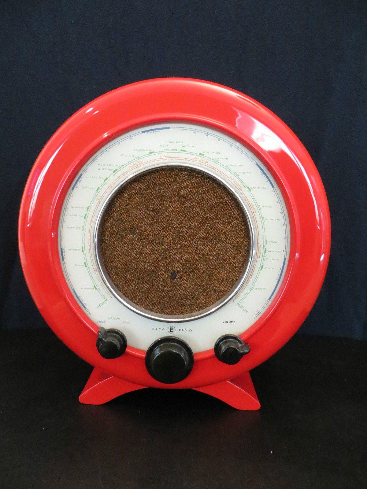Vintage Art Deco 034 Ecko 034 Bakelite Radio Amazing Old Antique Corvetteu2026