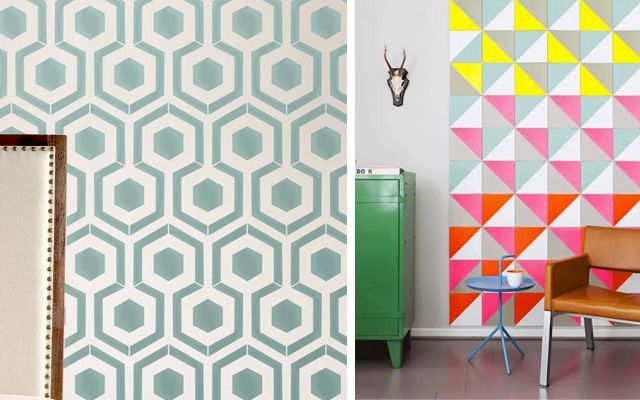 Ideas para pintar las paredes con motivos geom tricos for Ideas para pintar paredes