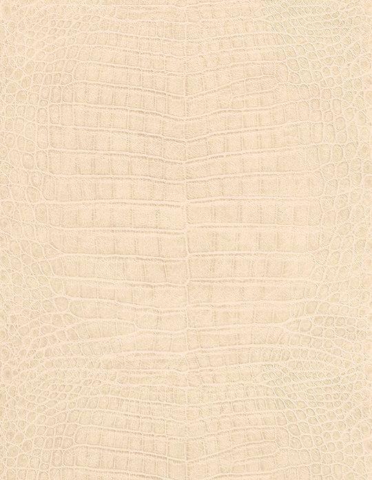 Papier Peint Caiman Vinyle Sur Intissé Effet Peau De Bête, Ecru