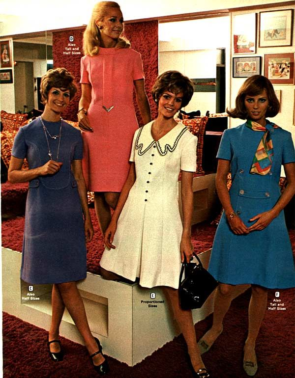 Women's Dresses from a 1970 catalog #1970s #vintage #fashion ...