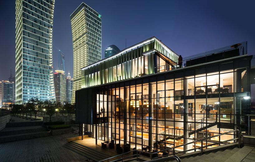 playze: 'tony's organic club', shanghai, china gives vacant pavilion a facelift