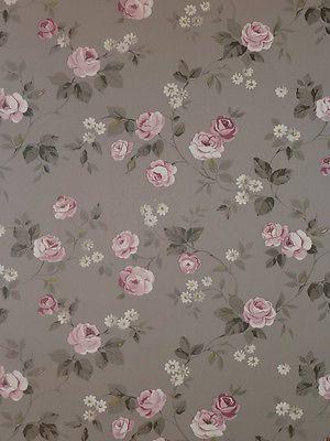 Aromas Vlies Tapete 623 3 Floral Blumen Rosa Grau Landhaus Stil 6 25 Euro M Rosa Tapete Farben Und Tapeten Tapeten Wohnzimmer