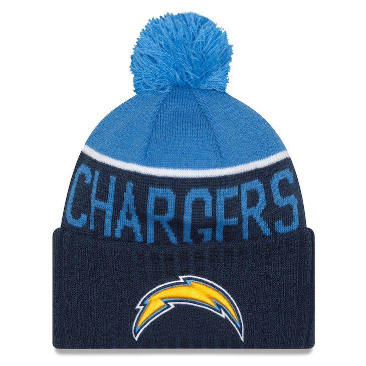 37b3c9fcf66 Youth Los Angeles Chargers New Era Navy Powder Blue On Field Sport Cuffed  Knit Hat