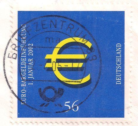 Briefmarke Europa Mitteleuropa Deutschland 56 2002 Euro Postage Stamps Stamp