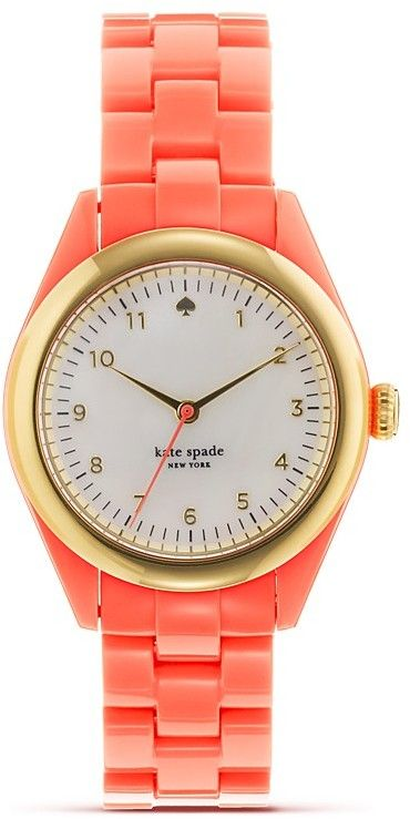 coral kate spade watch