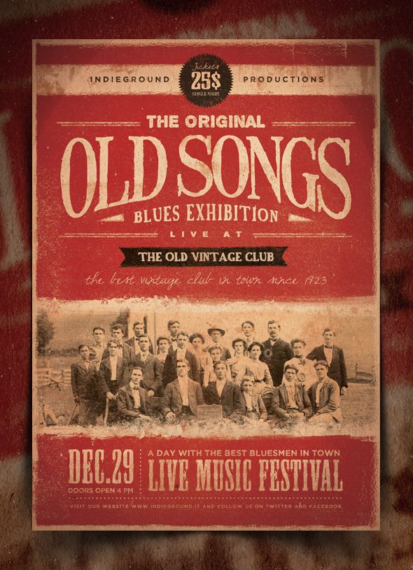 The Original Old Songs Blues Experienceu201d u2013 This flyer was designed - band flyer template