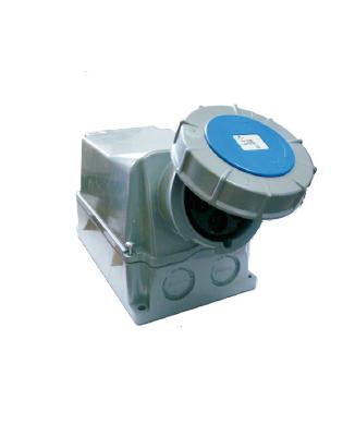 Toma Termoplastica Para Sobreponer 125 Amp Industrial Polos Unas Azules