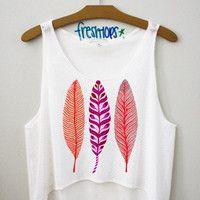 Feathers Croptop | fresh-tops.com