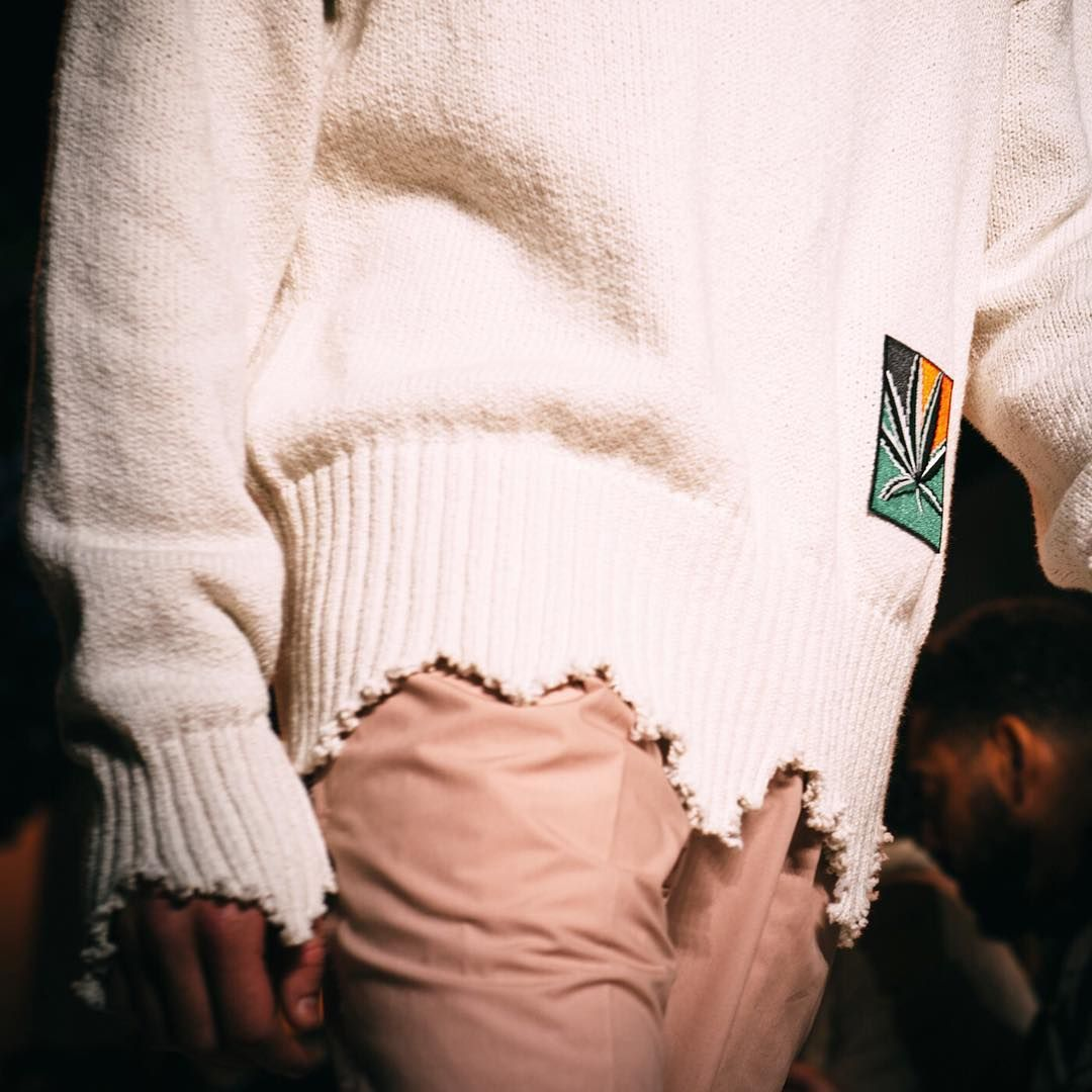 S17 details. The destroyed sweater with embroidery ✌️ #ovadiaandsons  #nyfwm