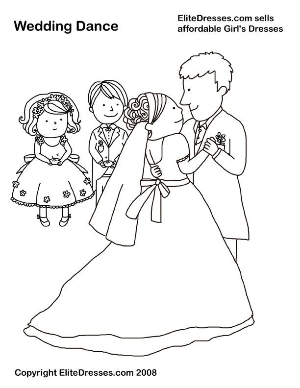 Colouring In Pages Wedding : Interesting american wedding traditions im and i have