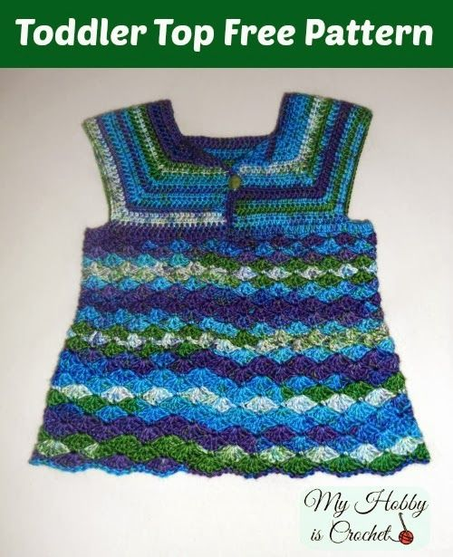 Iris Toddler Top - Free Crochet Pattern | Patrón de ganchillo, Iris ...