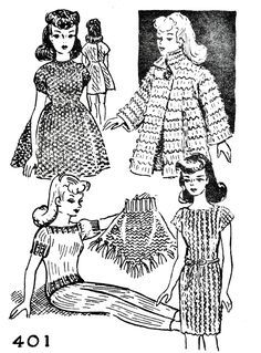 Photo of Free Fashion Doll Knitting Pattern Wardrobe – Vintage Patter…