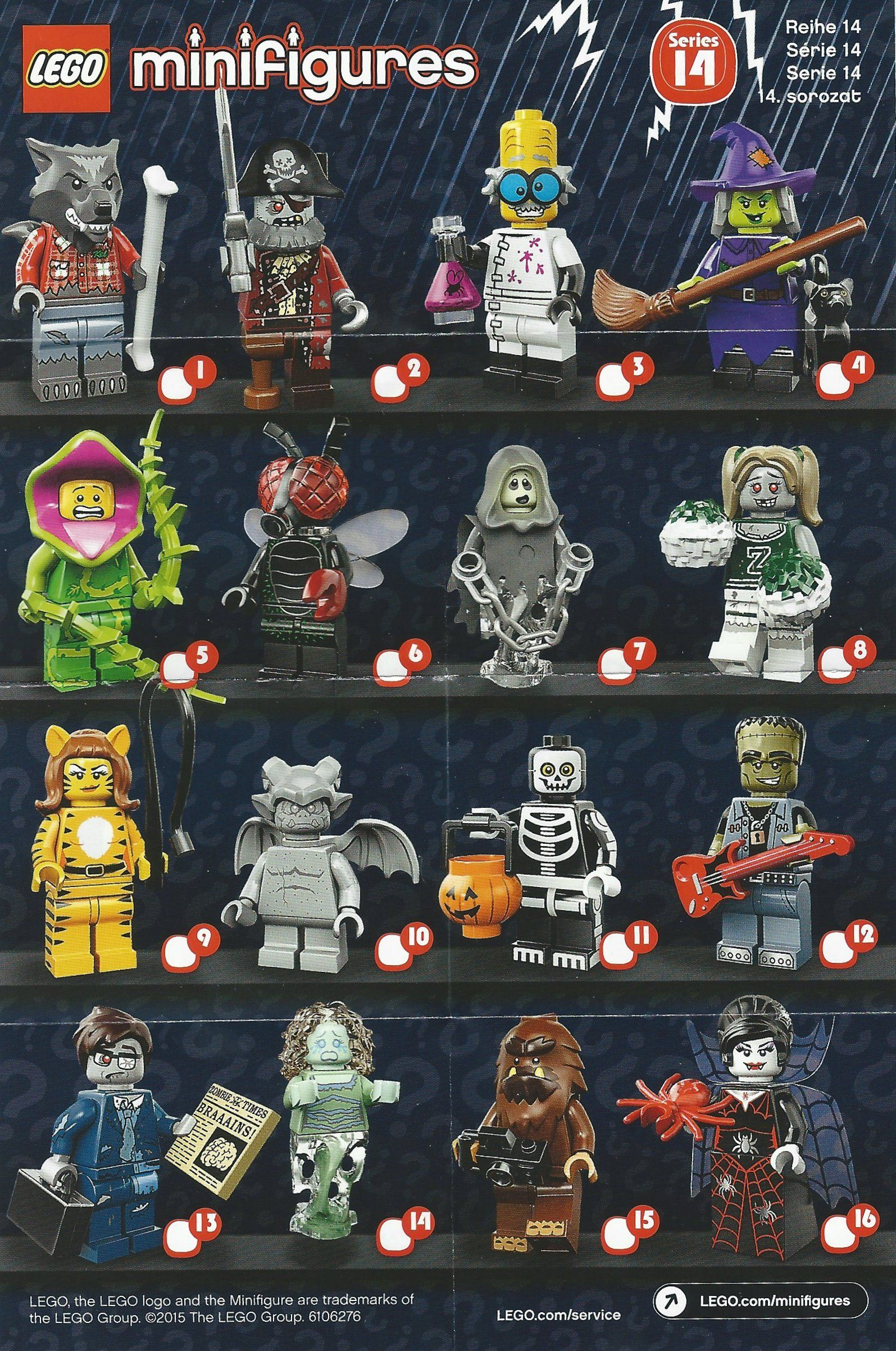 LEGO Minifigures Series 14 Character Checklist | Lego ...