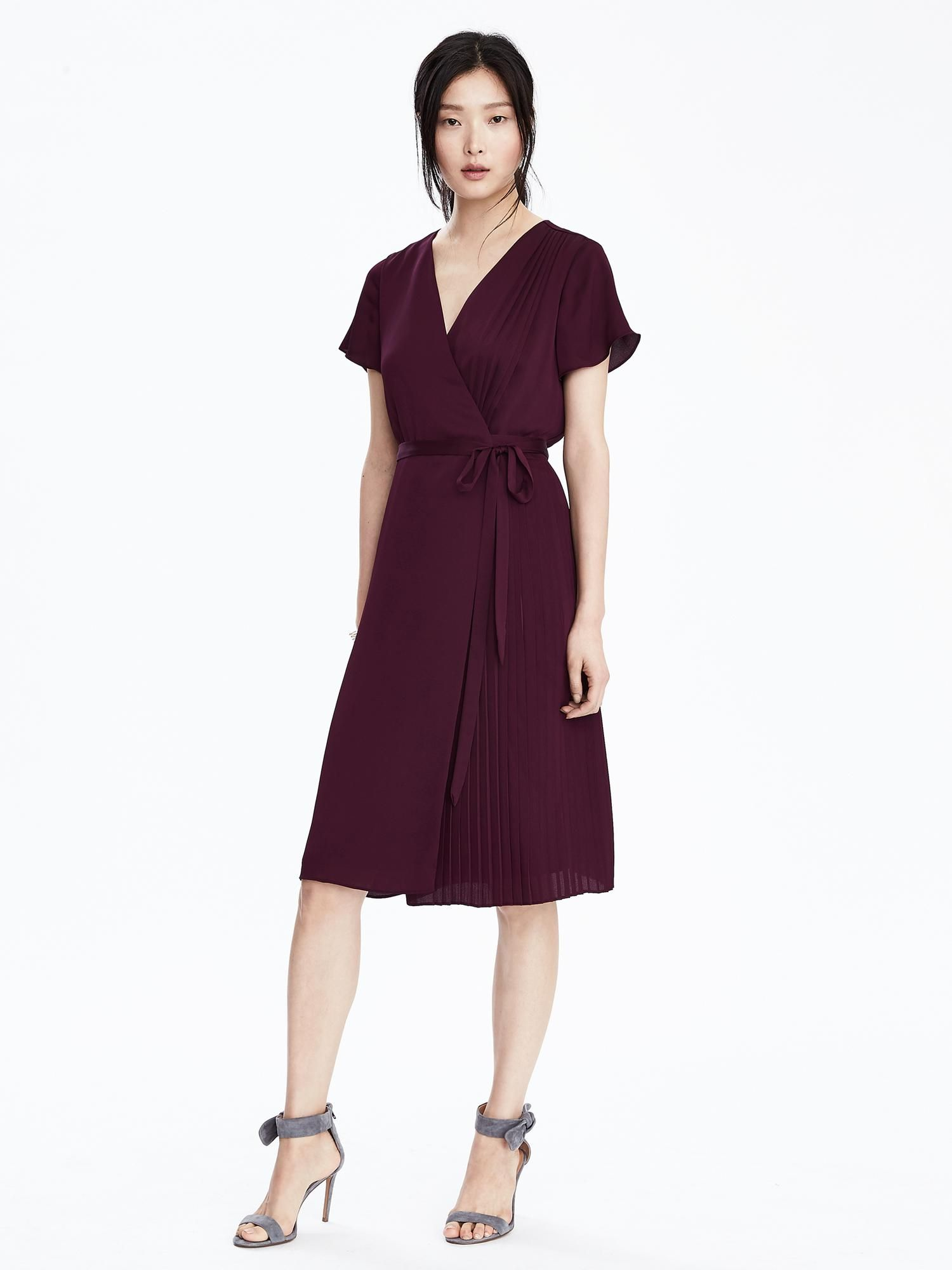 Pleated Wrap Dress Banana Republic Dresses Wrap Dress