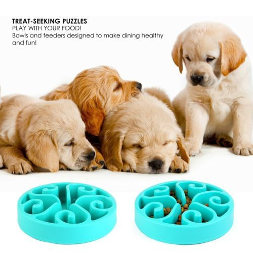 Slow Feed Interactive Puzzle Non-Skid Pedy Pet Fun Feeder Dog Bowl Slow Feeder Slow Feed Dog Bowl Bloat Stop Dog Bowl