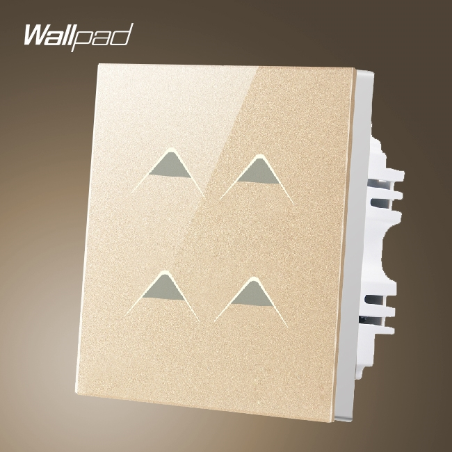 29.16$  Watch here - http://alic09.shopchina.info/1/go.php?t=32608510813 - New Arrival Wallpad UK Hotel 4 Gang 2 Way 3 way Gold Crystal Glass Touch Control Lighting Switch Electric, Free Shipping  #bestbuy