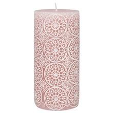 Two-Tone Carved Candle