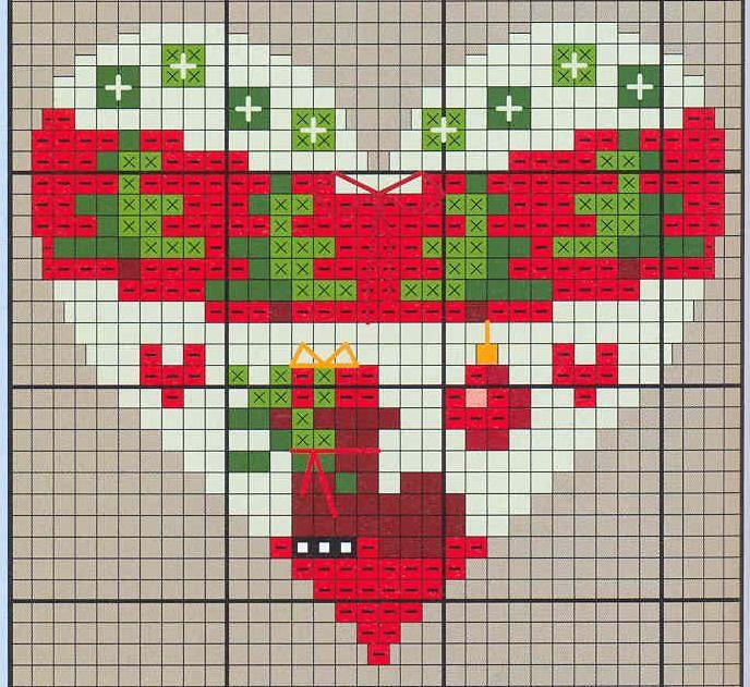 Points de croix *♥* Cross stitch Heart 5