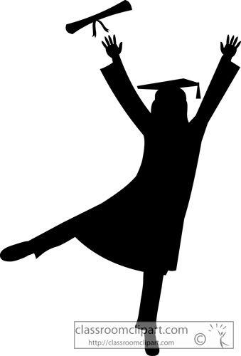 Graduation Graduate Silhouette Cap Gown Classroom Clipart Graduation Silhouette Graduation Party Backdrops Graduation Scrapbook