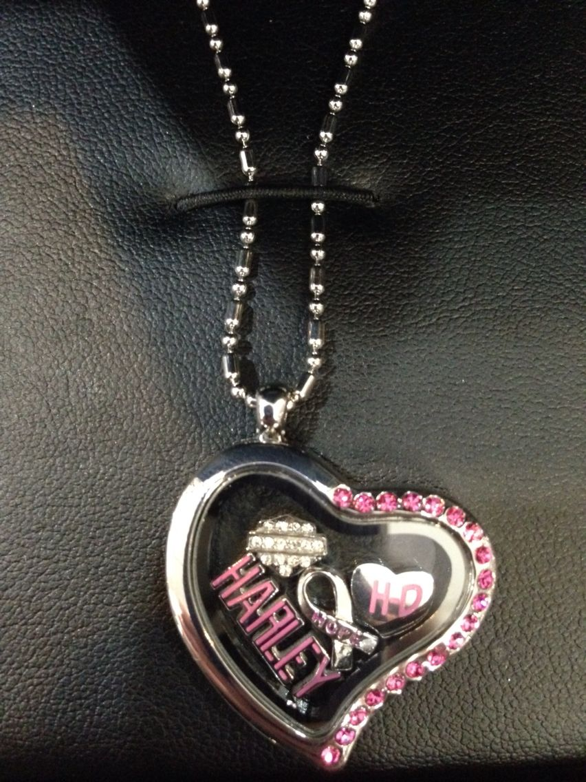 new lockets with harley davidson charms we necklaces