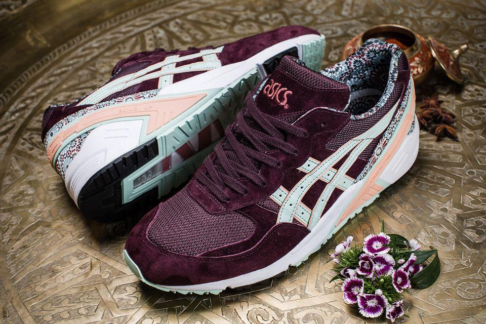 asics femme sneakers rose