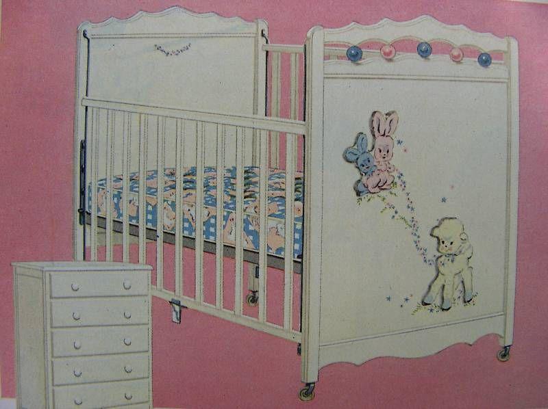 1954 Thayer Baby Crib.