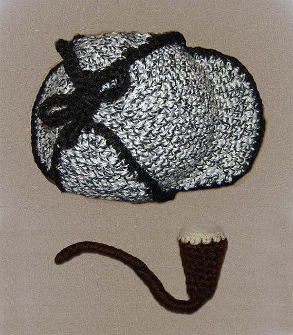 PDF Pattern No 43 Crochet Sherlock Holmes hat sports by Cathyren ... 866114d99048