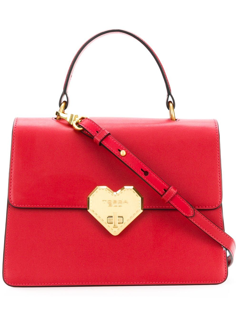 0336e8cd2aa1 TOSCA BLU TOSCA BLU HEART LOCK TOTE - RED.  toscablu  bags  shoulder bags   hand bags  leather  tote