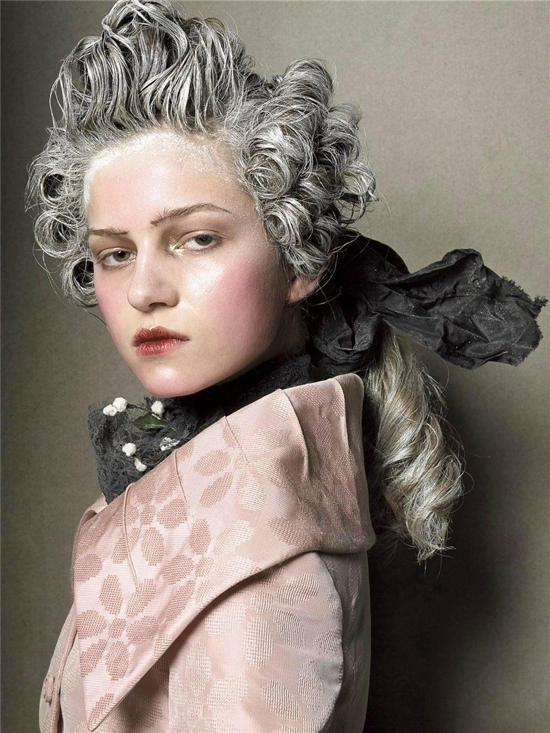 Th century inspired hair for meisel makeup pinterest steven